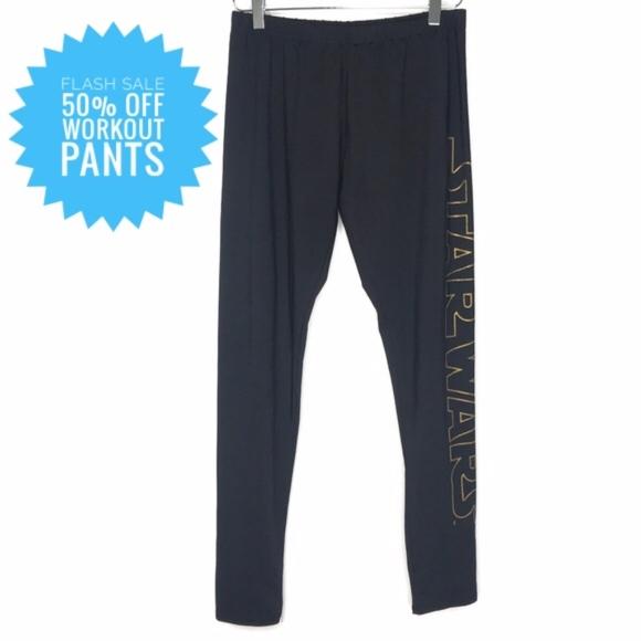 Fifth Sun Pants - Star Wars Black Spellout Leggings A060522